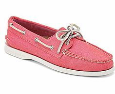 Canvas Sperrys for the summer