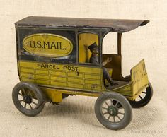 Tin Litho wind up Mail Truck
