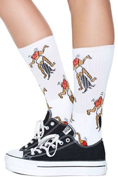 It's time to take your twerking addiction to the next level! These awesome socks feature a twerking graphic all over and ribbing at top.