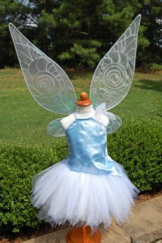 This costume design has been updated since this one was made...see https://www.pinterest.com/pin/543528248752953600/. Disney Periwinkle inspired fairy costume; fairy wings; fairy tutu - By Enchanted Ever After