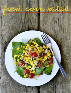 Use fresh farmer's market produce to make this tasty Fresh Corn Salad. Read the full post on Delish Dish: http://www.bhg.com/blogs/delish-dish/2013/06/05/a-taste-of-summer-fresh-corn-salad/?socsrc=bhgpin060703cornsalad