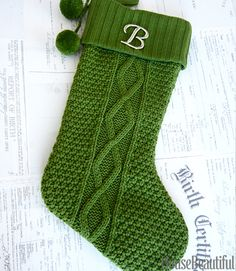 This cable knit stocking is a fantastic Christmas knitting pattern ...