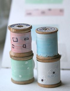 tutorial on how to make washi tape using fabric adhesive tape.