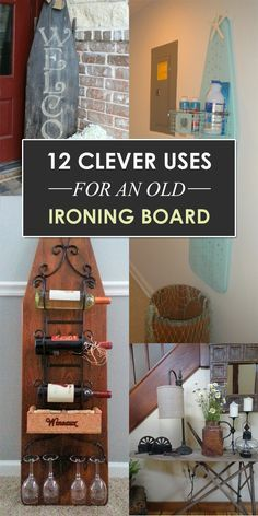 Do you need to repurpose your old ironing board? Here are 12 clever uses for and old ironing board. Painted Ironing Board, Antique Ironing Boards, Wood Ironing Boards, Furniture Makeover, Diy Furniture, Steel Furniture, Antique Furniture, Furniture Buyers, Furniture Assembly