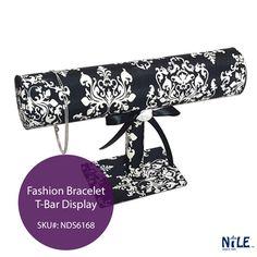 New Black & White Fashion Bracelet T-Bar Display!