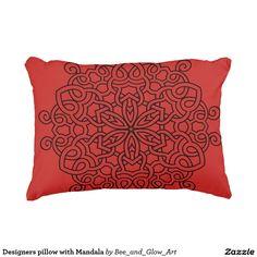 Designers pillow with Mandala Designer Pillow, Metal Art, Decorative Throw Pillows, Mandala, Designers, Black, Decorative Pillows, Black People, Metal Yard Art