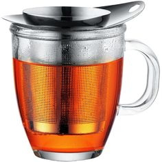 Designed with the tea drinker in mind - Bodum Yo Yo Tea Infuser and Glass Mug Set