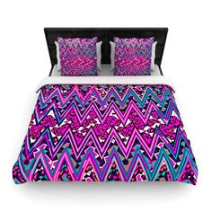 KESS-InHouse-Electric-Chevron-Woven-Comforter-Duvet-Cover-MM1019.jpg (980×980)