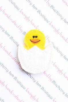 Embroidered Felt Hatching Duck  Set of 4 by blueberryjamboutique, $4.60