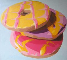 New Pop Art Food Illustration Artists Ideas Illustration Artists, Food Illustrations, Juan Sanchez Cotan, Pop Art Food, Observational Drawing, Food Artists, Food Painting, Party Rings, A Level Art