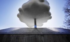 Image 9 of 18 from gallery of Let the Cloud House Brighten Your Rainy Day. An artificial cloud dispenses water to create soothing sounds, and feed windowsill plants. Image Courtesy of Matthew Mazzotta Rainy Day Images, Make It Rain, Edible Plants, House Made, Window Sill, The Fresh, Harvest, Clouds, Let It Be