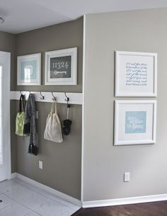 """perfect paint color, cool grey beige COOL AND NATURAL """"Museum Piece"""" Benjamin Moore **living room and hall Diy Casa, Grey And Beige, Home And Deco, Home Organization, Organizing Ideas, My Dream Home, Home Projects, Diy Home Decor, Home Improvement"""