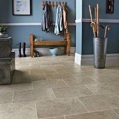 Great prices on Karndean Knight Tile Portland Stone effect vinyl tiles with realistic granular finish in packs Kardean Flooring, Hallway Flooring, Linoleum Flooring, Kitchen Flooring, Flooring Ideas, Ceramic Flooring, Modern Flooring, Basement Flooring, Flooring Options