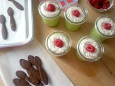 Key Lime Pie in small jars. Use homemade sweetened condensed milk recipe found here: http://pinterest.com/pin/510525307729988235/