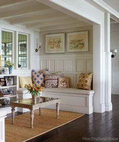 great idea for an awkward small space that you don't know what to do with. love the walls and ceiling.