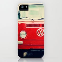 Red VW Bus iPhone & iPod Case by Anna Dykema Photography - $35.00