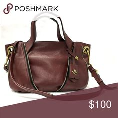 orYANY Maroon Pebbled Leather Zipper Satchel Excellent like new condition!!  OrYANY maroon pebbled leather zipper satchel with extra strap. orYANY Bags Satchels