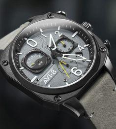 TimeZone : Industry News » N E W M o d e l - AVI-8 Hawker Hunter Retrograde Chronograph