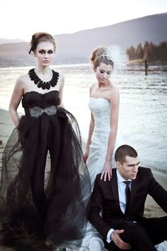 Love this. If I had a redo wedding I would have bridesmaids wearing that crazy black outfit. And we would actually take some sweet photos. Maybe my 5 year anniversary....