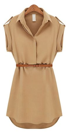 Belted dress...it'd be more if a shirt for me haha