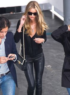 Rosie Huntington Whiteley - rocking all-black