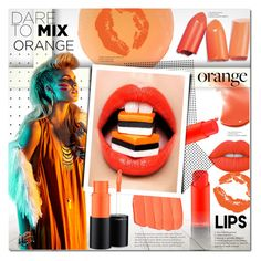 """War Paint"" by justlovedesign ❤ liked on Polyvore featuring beauty, Zelens, MAC Cosmetics, Lime Crime and orangecrush"