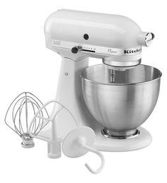 KitchenAid K45SS Classic Stand Mixer - White: Amazon.co.uk: Kitchen & Home