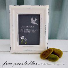 Free Printable {thankful blessings} Four Color Varieties #diy #printable #art