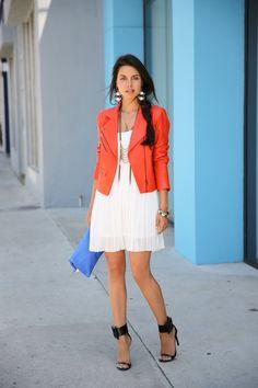 08430a96b854 VIVALUXURY  SUMMER STAPLE Orange Leather Jacket