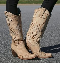 Rivertrail Mercantile - Corral Bone Tan Ethnic Pattern and Whip Stitch C2923, $209.99 (http://www.rivertrailmercantile.com/corral-bone-tan-ethnic-pattern-and-whip-stitch-c2923/)