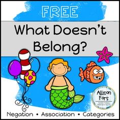 Practice negation, association, and categories with this 5 page, no-prep activity! There are 5 things that don't belong in each scene. - Find what doesn't belong. - Find what does belong. - Name the category. - Describe why items belong or don't belong. Aba Therapy Activities, Preschool Speech Therapy, Speech Therapy Activities, Speech Language Pathology, Language Activities, Speech And Language, Preschool Activities, Colour Activities, Shape Activities