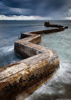 St Monans' Zig Zag Breakwater - Fife, Scotland