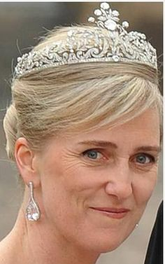 Princess Astrid of Belgium wearing the Savoy-Aosta Tiara