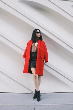 Michelle (@runwayonthego) New post up on the blog {Red Coat}, head over to www.runwayonthego.com for details #blog #fashionblogger #ootd #wiw #lotd