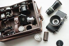 Leica IIIa and case of equipment