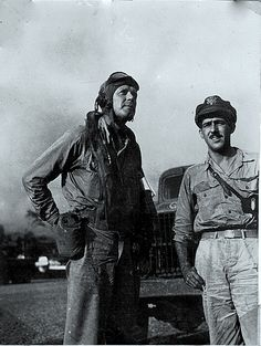 Von Spahr, an Englewood, Fla. retiree, was a 19-year-old armorer in 1943 attached to the 431st Fighter Squadron, 475th Fighter Group, 5th Air Corps based at Port Moresby, New Guinea during World War II.  His company commander told him to take a Jeep and pick up a pilot flying into the local airstrip in a P-38 Lightning fighter plane and being him back to the squadron's ready room.