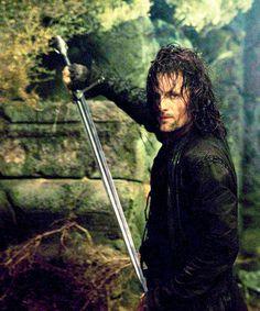 Viggo Mortensen as Aragorn in LOR O Hobbit, The Hobbit Movies, Viggo Mortensen, Gandalf, Legolas, Fellowship Of The Ring, Lord Of The Rings, Lotr, Narnia