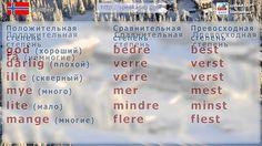 Норвежский язык. Прилагательные. Степени сравнения прилагательных. Елена...