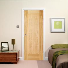 Flush Non Rebated Pure White Finish Door With Harmony