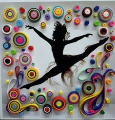 Quilled Ballerina Wall Hanging Home Decor