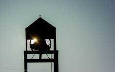Petersville United Methodist church bell and steeple in Columbus, Indiana at sunrise...photo by Shannon Malanoski