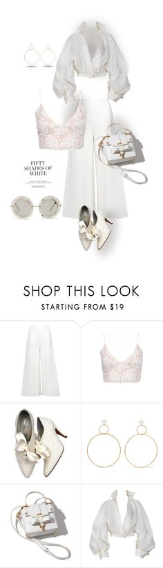 """""""Fifty Shades of White"""" by interesting-times ❤ liked on Polyvore featuring STELLA McCARTNEY, Rachel, Natasha Schweitzer, Claude Montana and Dolce&Gabbana"""