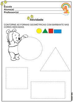 Atividade Cores e Formas   Ideia Criativa - Gi Barbosa Educação Infantil
