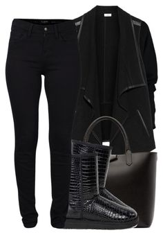 """""""Contest//Blackout"""" by ashcake-wilson ❤ liked on Polyvore featuring Vince, Givenchy, UGG and French Connection"""
