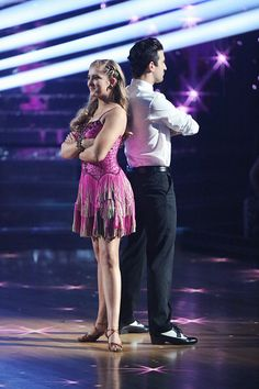 Still of Willow Shields and Mark Ballas on DWTS week 1