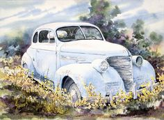 39 Chevy Painting by Sam Sidders - 39 Chevy Fine Art Prints and Posters for Sale