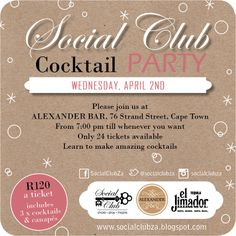 Invite to the first Social Club event of