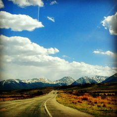 Beautiful shot of the road to Leadville
