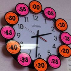 Classroom times for analog clocks.