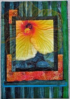 """""""Emerald Eyes"""" by Elizabeth Janowitz  This artist's work is very inspirational! combines photos and fibers"""